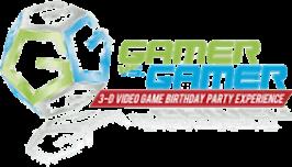 Gamer vs Gamer Video Game Truck Birthday Party Service Logo