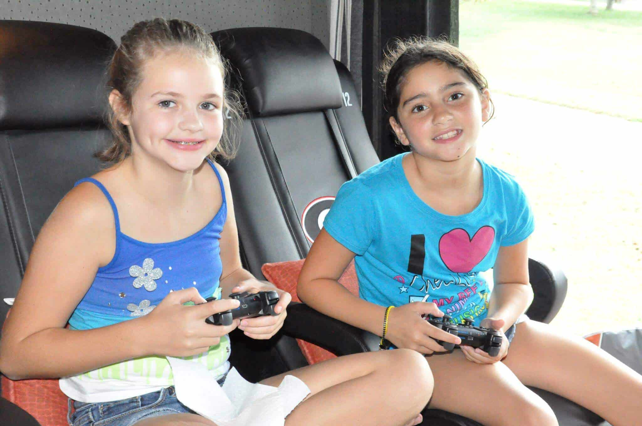 Game Truck Atlanta BY: Gamer vs Gamer Girls enjoying Playing video games